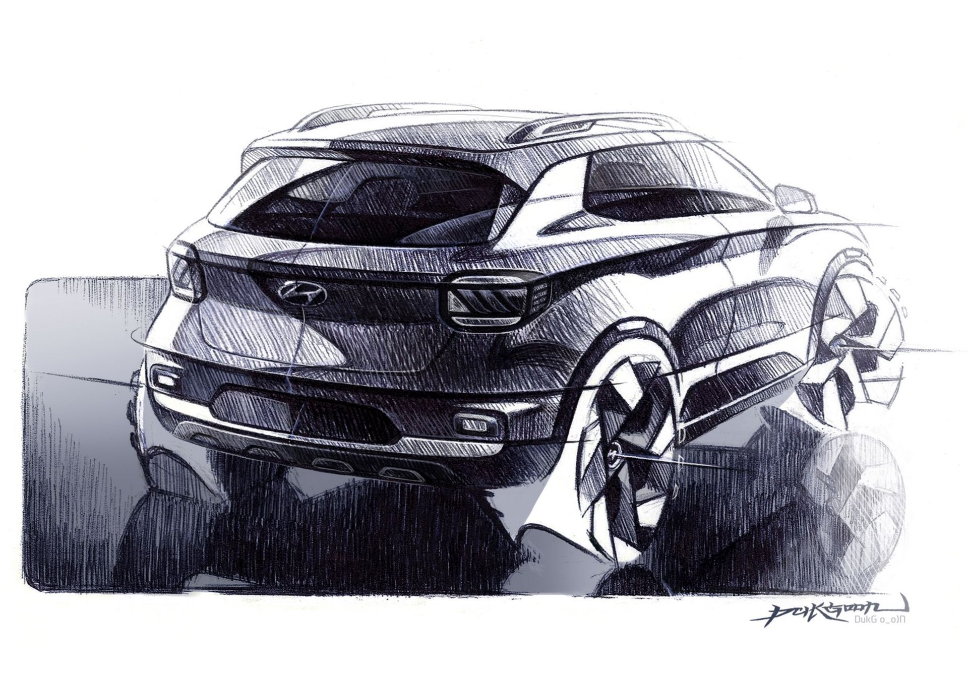 Hyundai Releases Venue SUV Sketches Before April 17 Debut