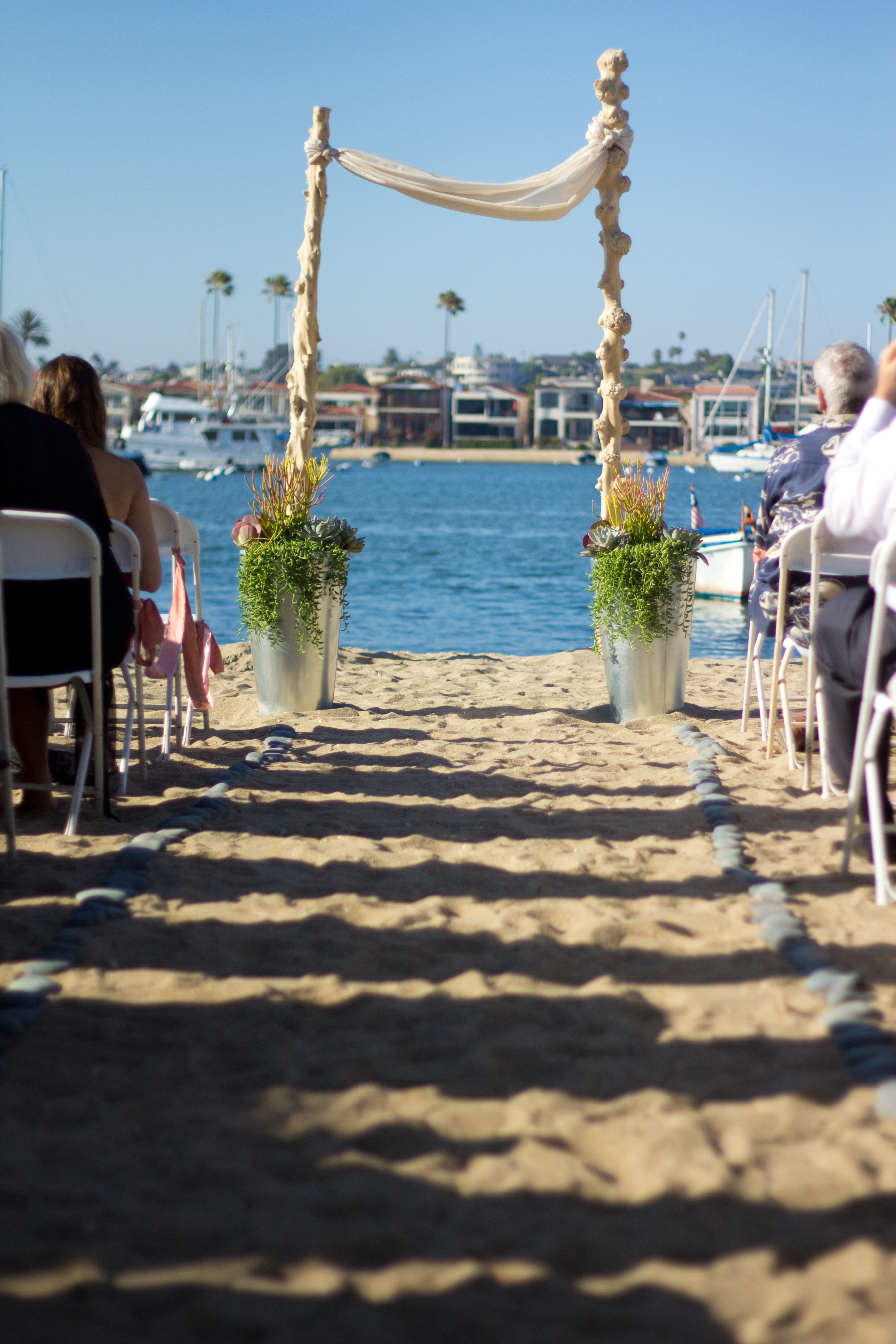 beach wedding | by my muse design & events | photography: michael radford