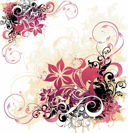 free floral backgrounds file name swirl and flower background