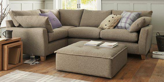 Buy Alexis Standard Corner Left Hand 4 Seats Soft Marl Dark Mink Light Next Home Living Room Small Sofa Home Comforts