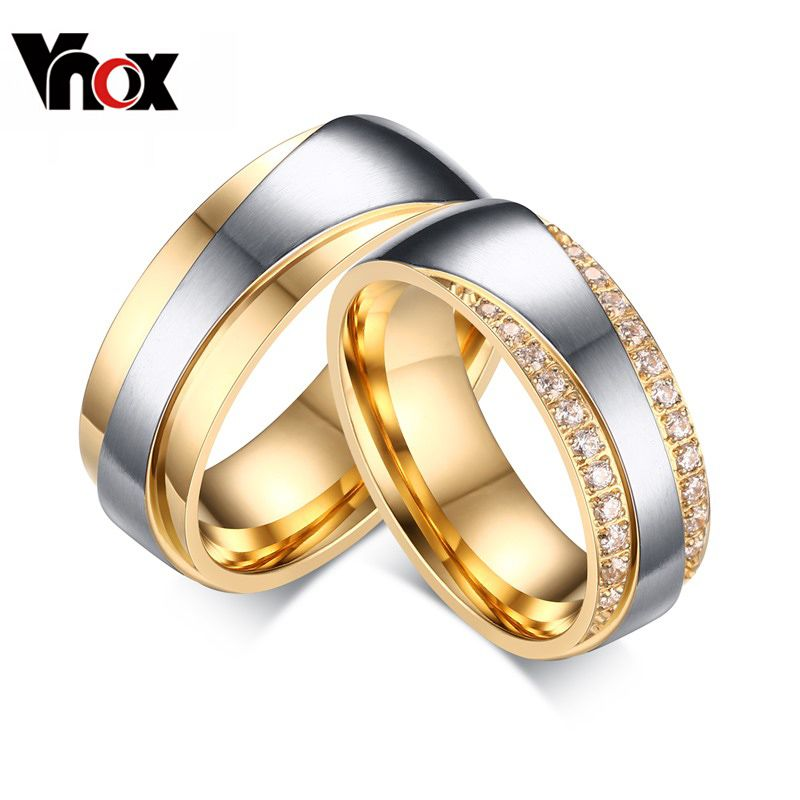 Aliexpress Com Buy Gold Plated Wedding Bands Engagement Rings For Women And Men Jewelry Fashio Colored Engagement Rings Rings For Men Womens Engagement Rings