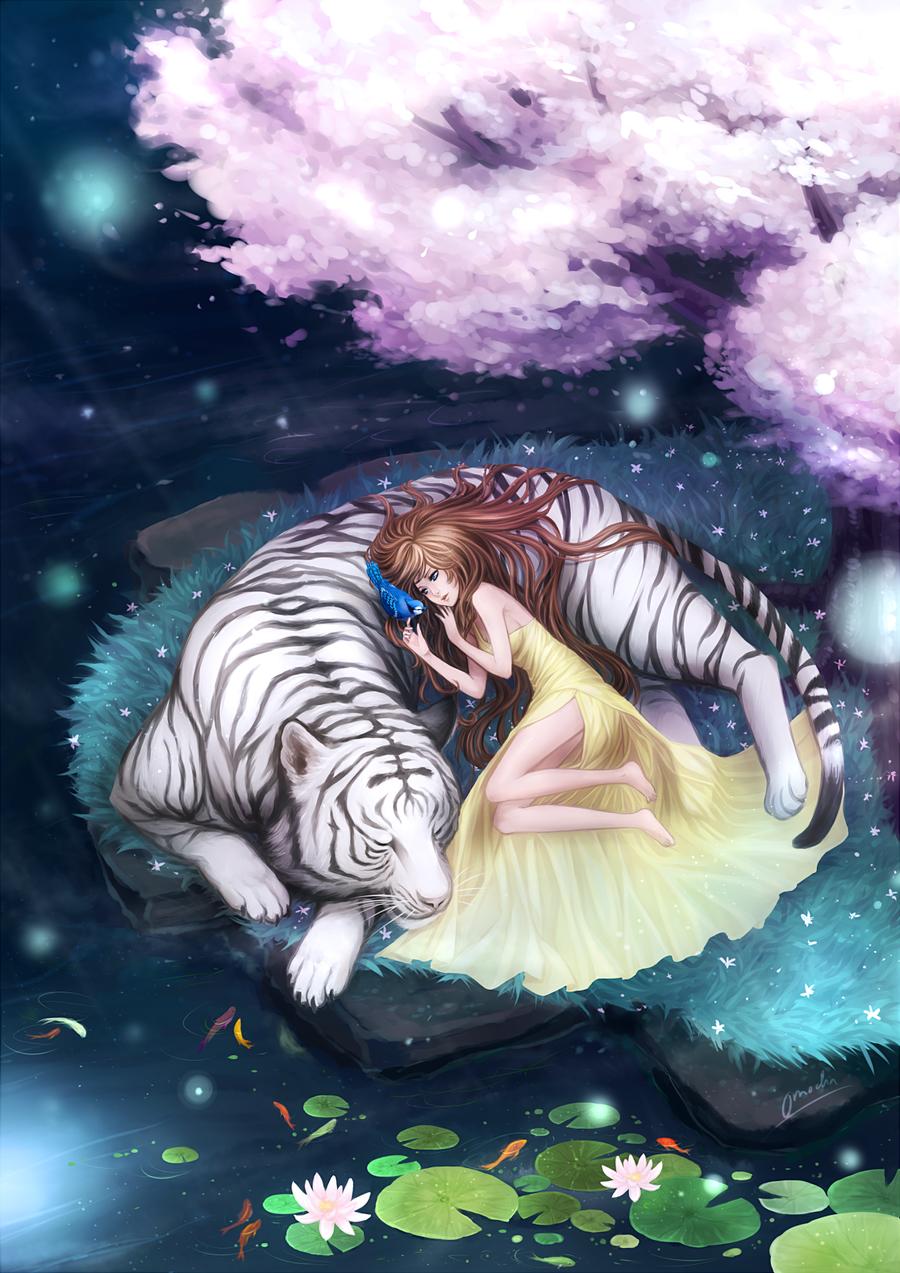One Silent Night By Omocha San Deviantart Com Tiger Art Art Animal Art