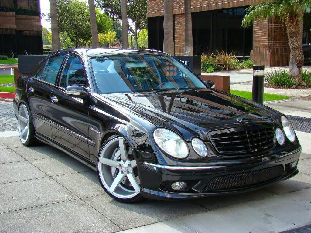 Mercedes benz w211 e55 amg on 20inch vossen wheels for Custom mercedes benz for sale
