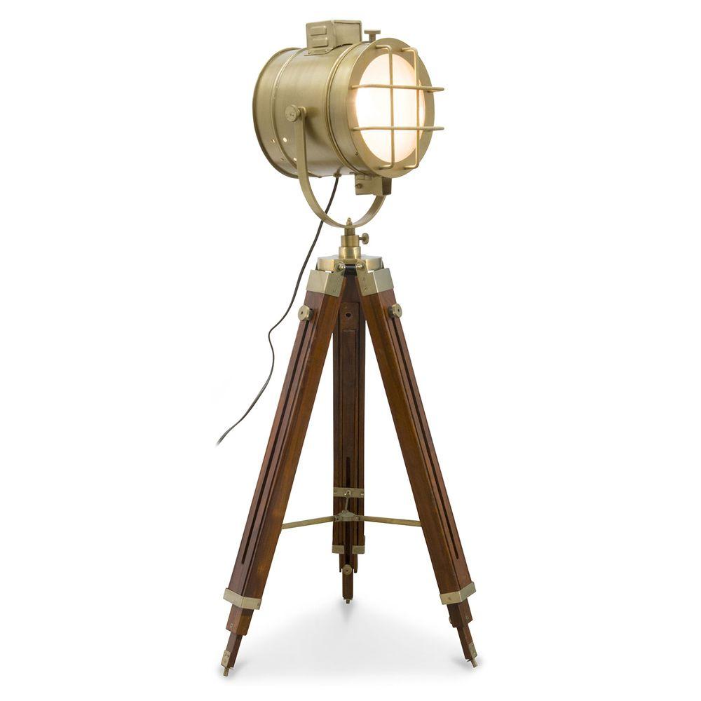 Vintage Stativ Projektor Stehlampe Stahl Und Holz Brauner Stehlampe Design Stehlampe Projektor