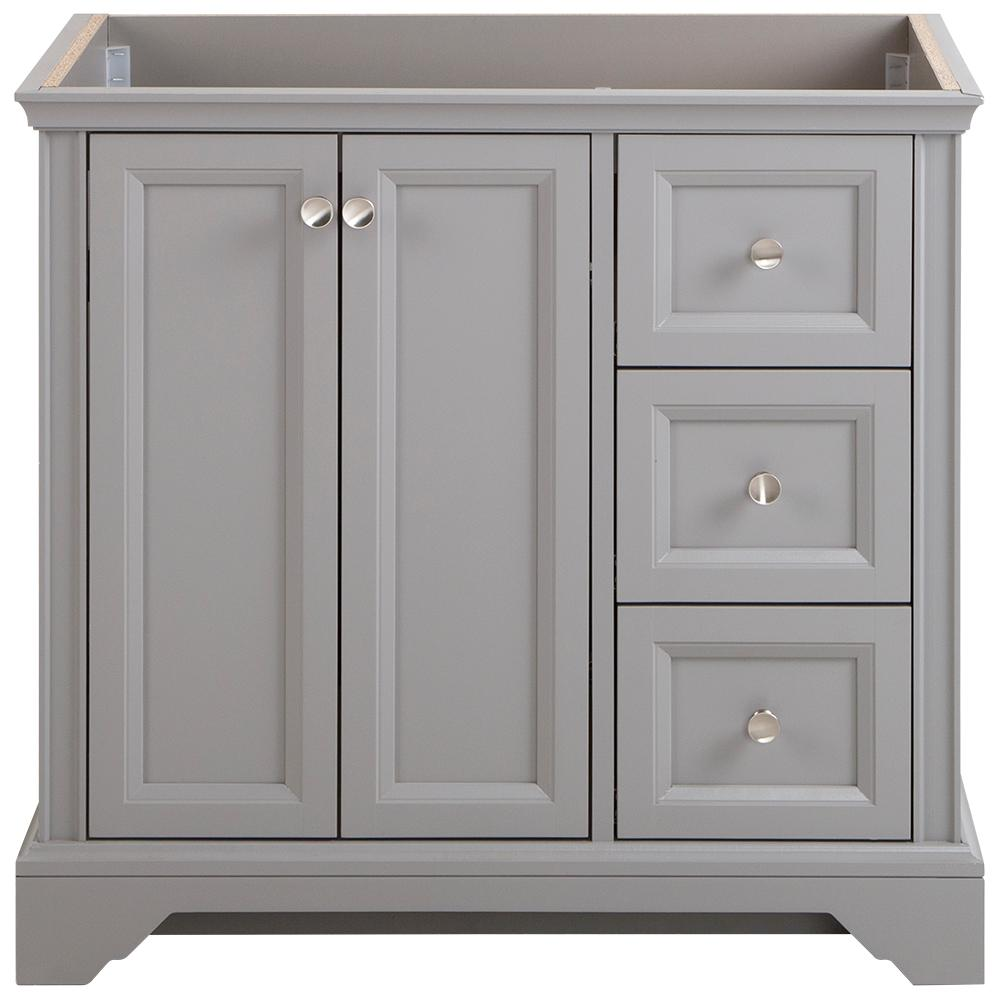 Home Decorators Collection Stratfield 36 In W X 22 In D X 34 In H Bath Vanity Cabinet Only In Sterling Gray Sf36 St The Home Depot Vanity Cabinet Home Decorators Collection Vanity
