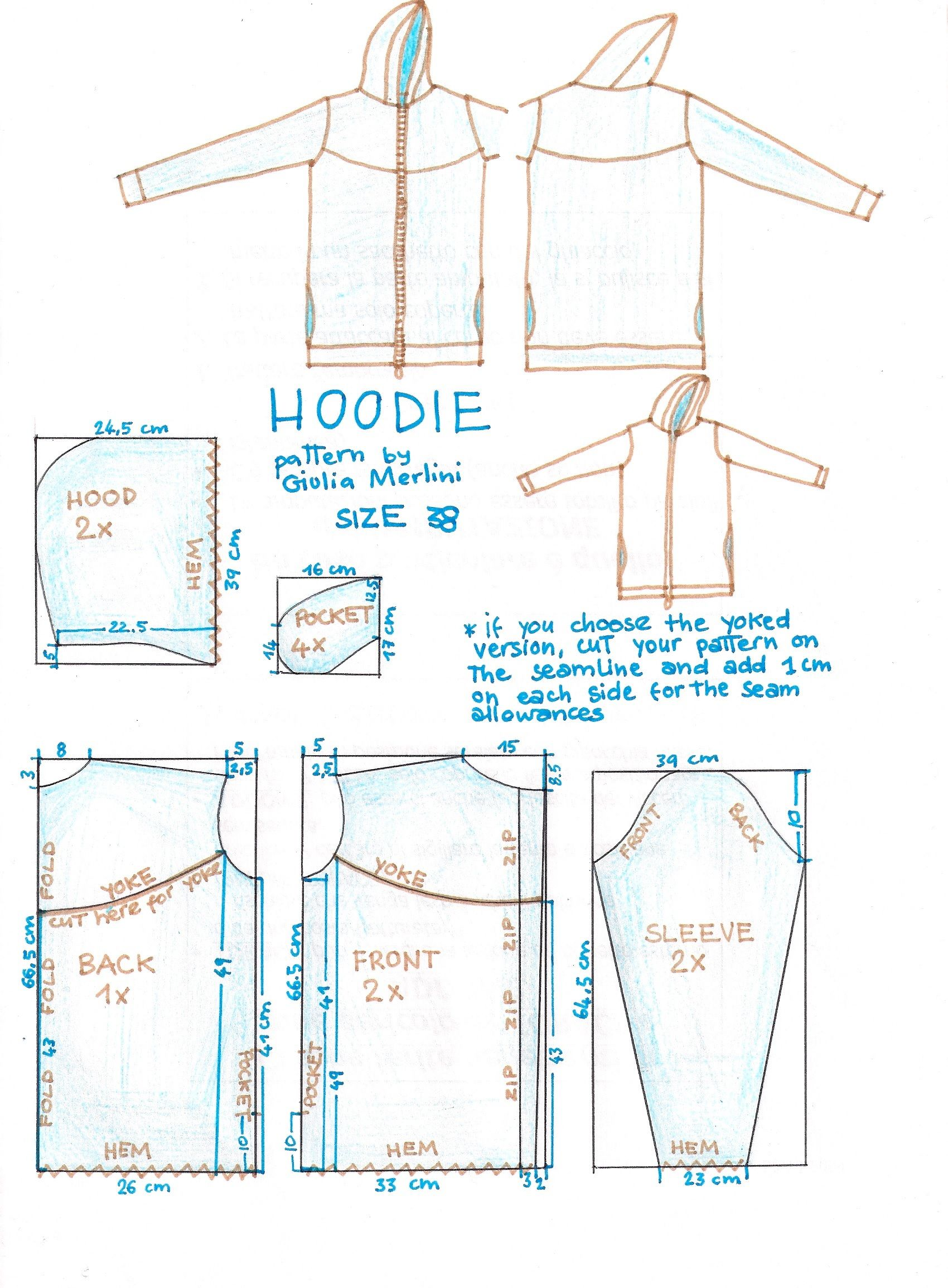 Hoodie | sewing. | Pinterest | Vestidos bonitos, Bonitas y Costura