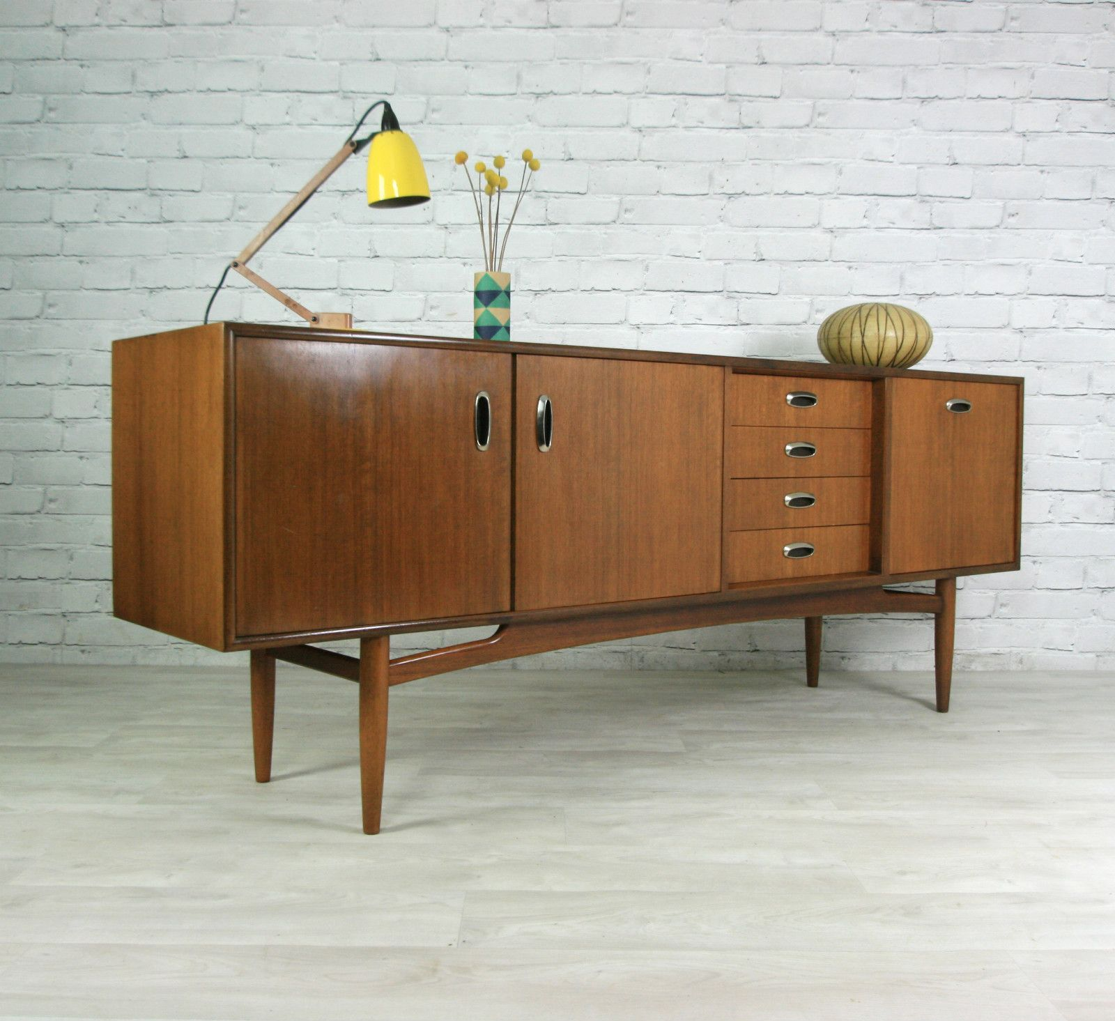 G Plan Retro Vintage Teak Mid Century Danish Style Sideboard Eames Era 50s 60s Ebay Retro Furniture Contemporary Home Decor Home Decor