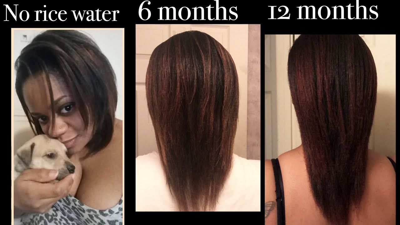 How i repaired my damaged hair with rice water 1 year