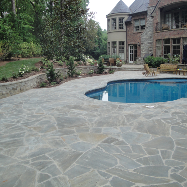 Grey Pool Deck Pavers Pool Deck Selection Pool Deck Flagstone Pool Decks Pool
