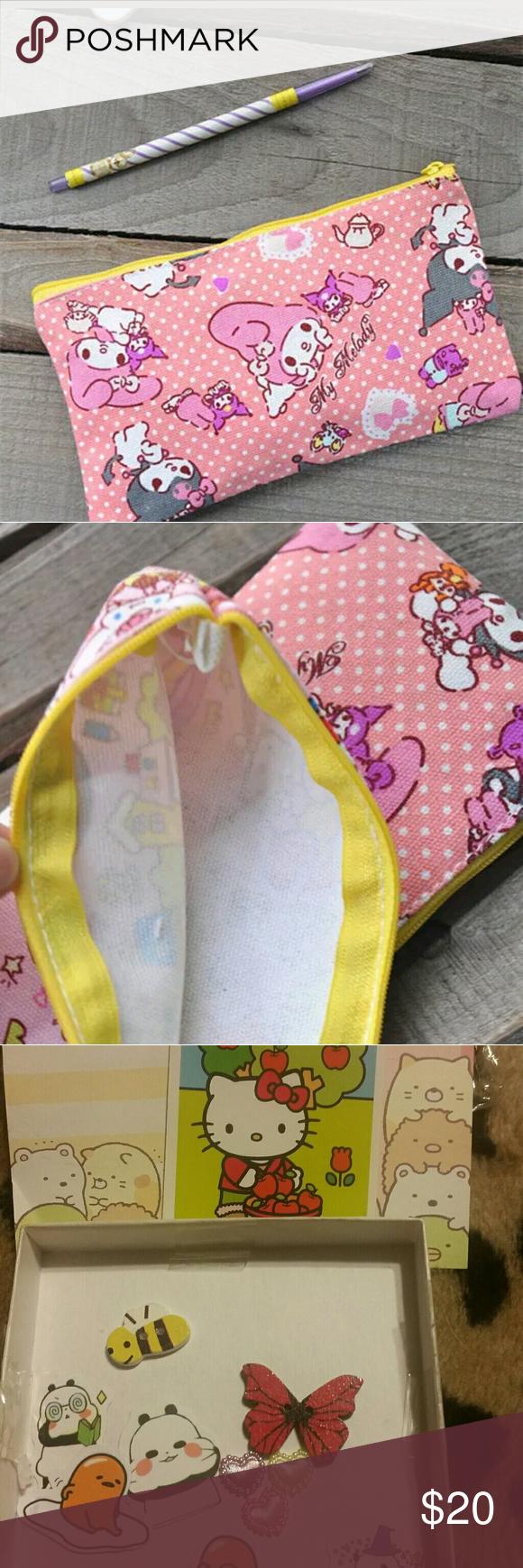 My melody kuromi zipper purse w kawaii bonus Boutique
