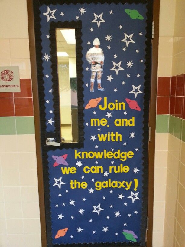 Classroom Ideas Tumblr ~ This is a cute idea for star wars themed door the glare