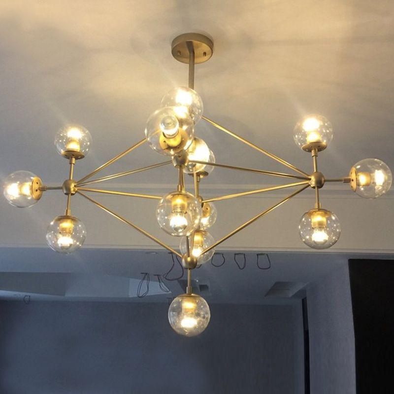 Goedkope Jason magic bean foyer woonkamer grote DNA Gouden LED ...