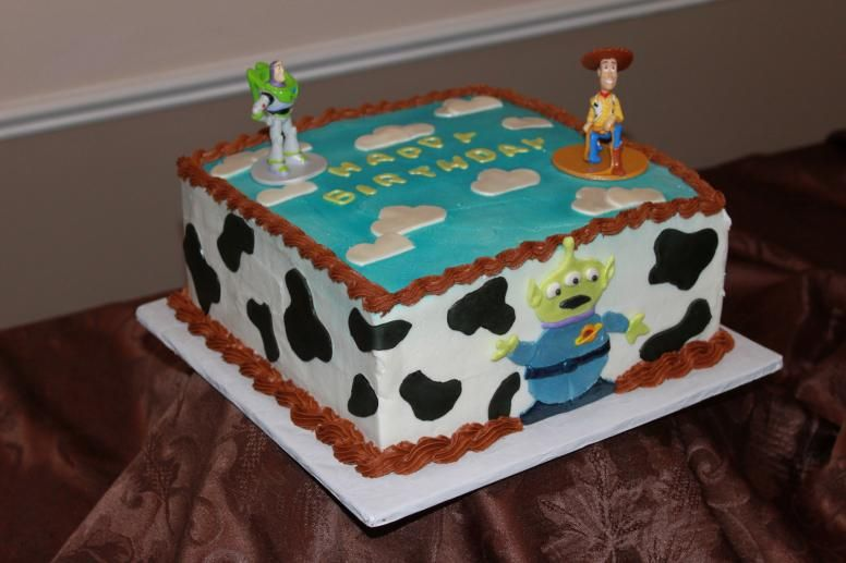 Awe Inspiring Toy Story Cake With Images Toy Story Birthday Cake Toy Story Personalised Birthday Cards Arneslily Jamesorg