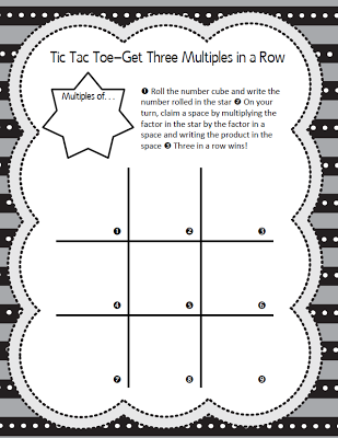 Multiples Tic Tac Toe Game - Math Coachs Corner