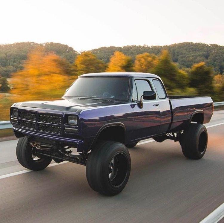 1St Gen Cummins >> Rollin Down The Road Dodge Cummins 1stgen Purple Black Lifted