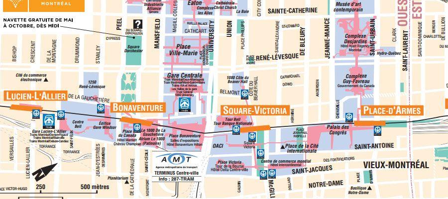 how to go to underground city montreal