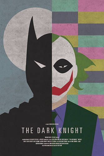 """Simplicity at its best. Another """"Dark Knight"""" poster."""