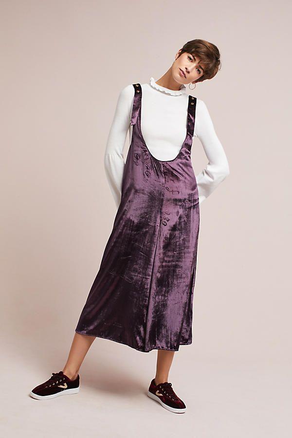 b354a0601a3 Slide View  1  Velvet Jumper Skirt