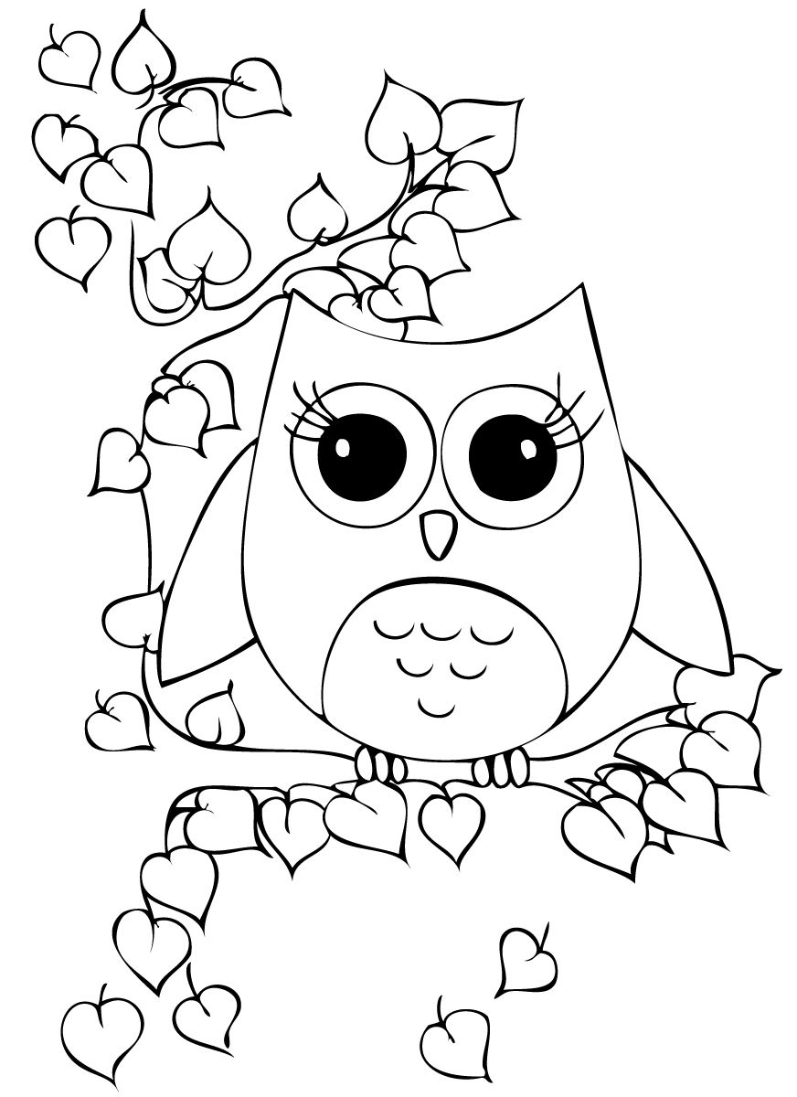 Cute Owcute Owl Colouring Pages Owl Coloring Pages Cartoon Coloring Pages Animal Coloring Pages