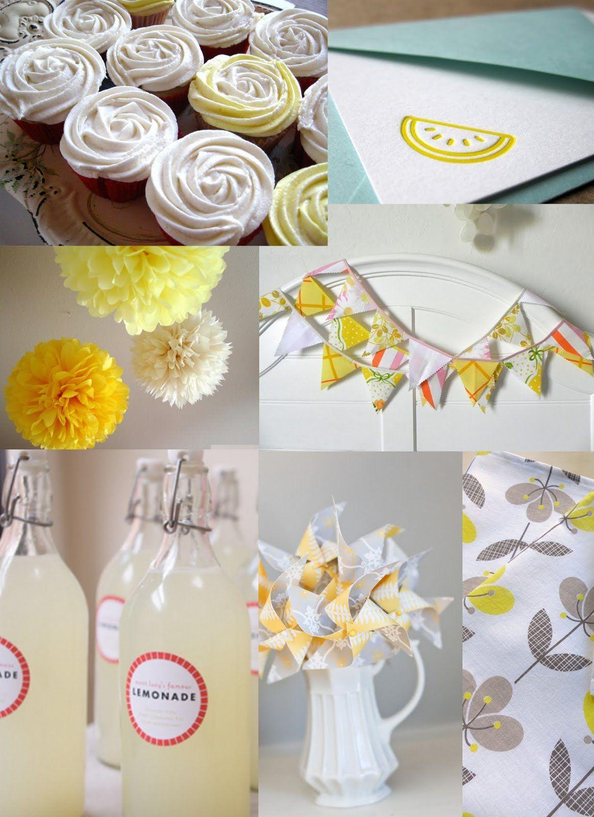 cute yellow baby shower | Baby Shower Ideas | Pinterest | Lemon ...