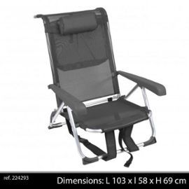 A Chaise Longue Fauteuil Aluminium Sangle Transportable Dos n0X8PkwO