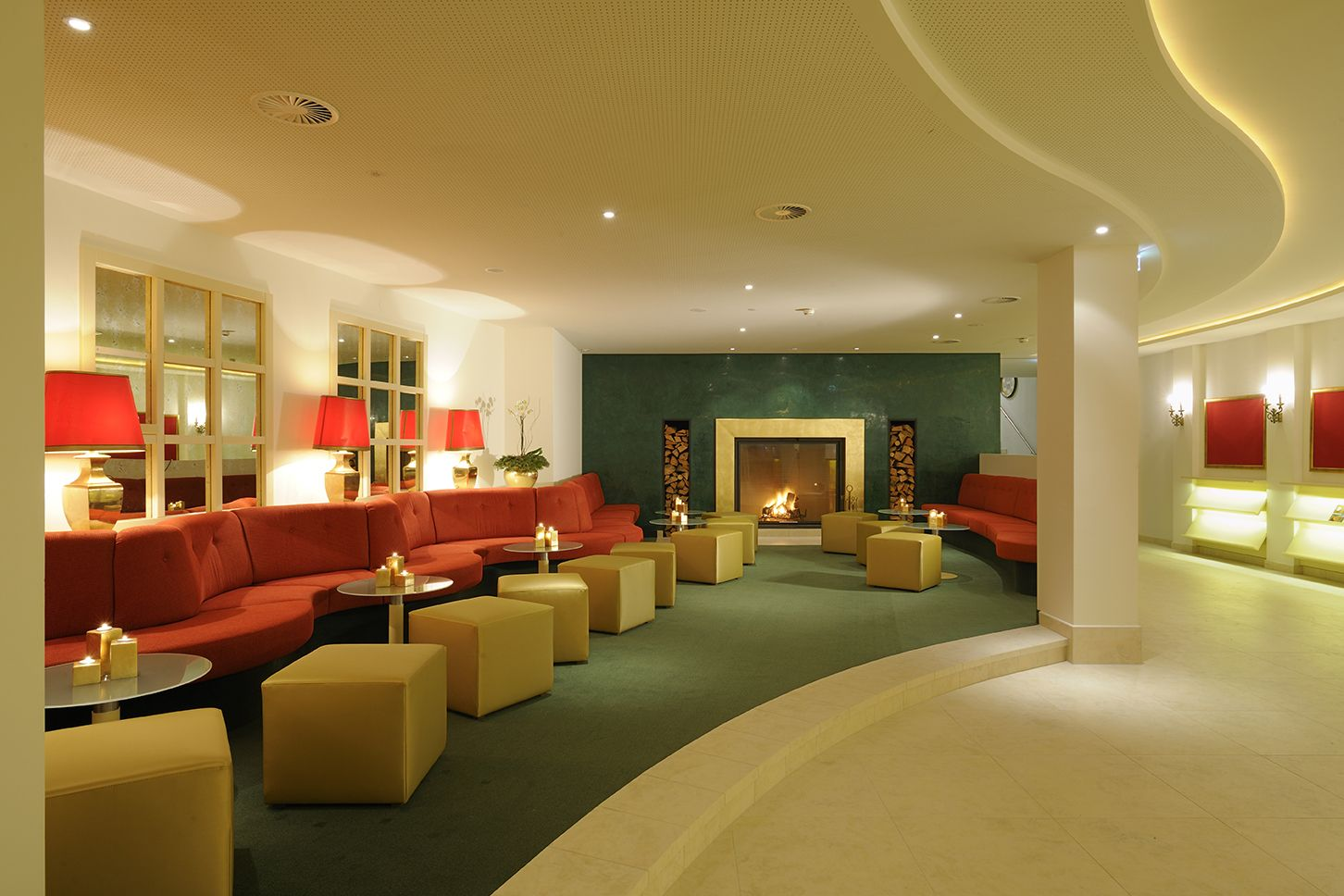 office lobby designs with color - Google Search | work spaces ...