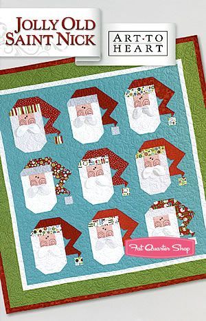 Jolly Old Saint Nick Quilt Pattern Art to Heart, Nancy