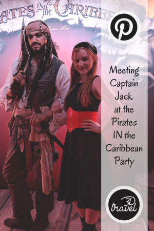 Meeting Captain Jack During Disney Cruise Line S Pirates In The Caribbean Party Disney Cruise Line Disney Cruise Caribbean Party