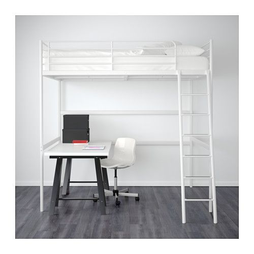 TROMSÖ Loft bed frame - IKEA | Current home | Pinterest | Loft bed ...