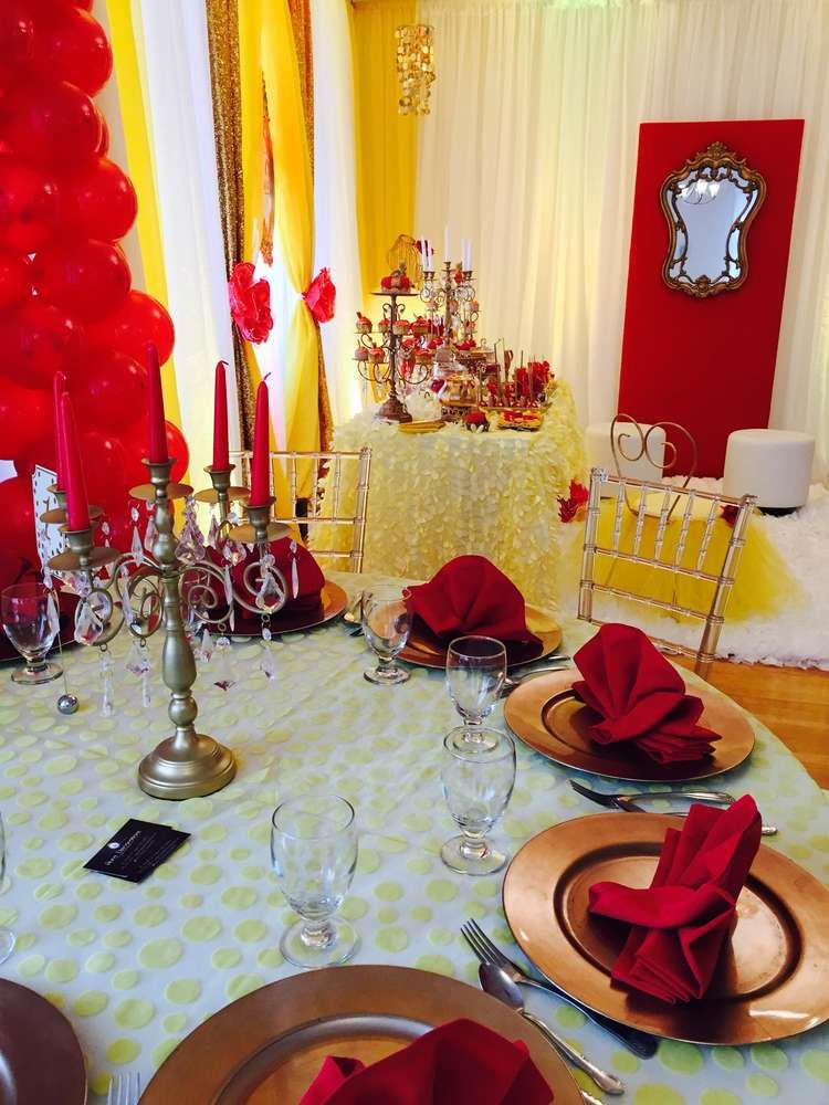 Princess Bell Birthday Party Ideas Gold Theme Birthday Party