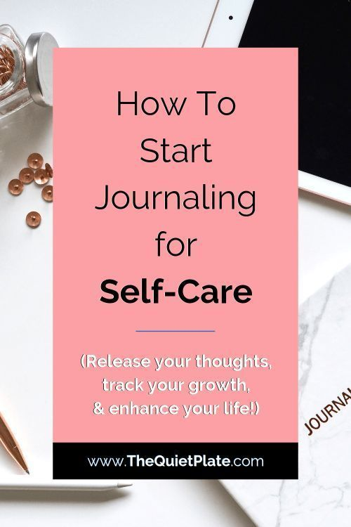 Beginner's Guide to Starting a Self Care Journal