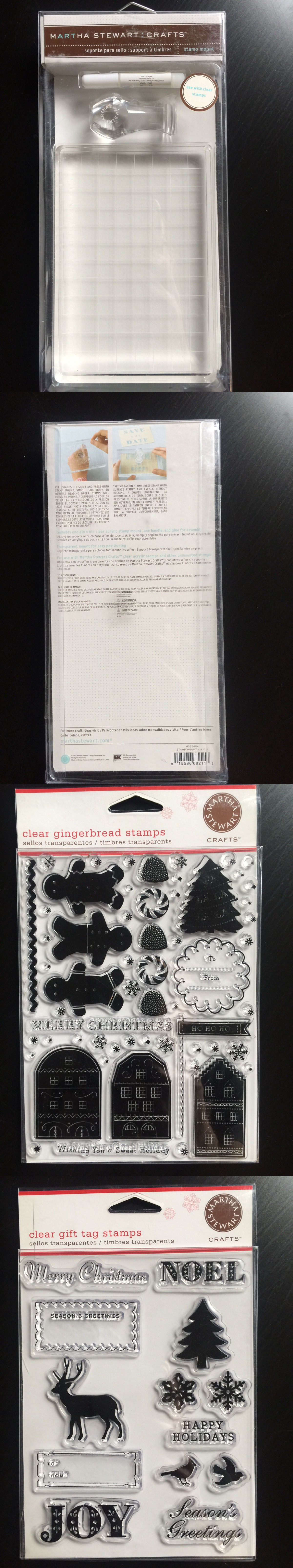 Stamp Handles And Mounts 134783 Lot Sale Many Martha Stewart Clear Stamps Mount Set BUY IT NOW ONLY 35 On EBay