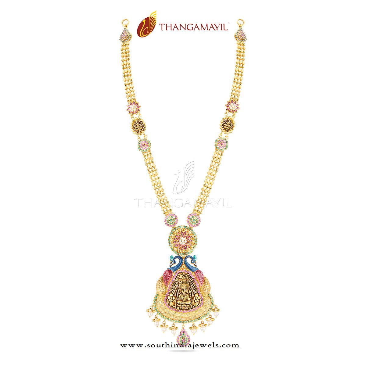 New Gold Long Necklace from Thangamayil Jewellery | Necklace ...