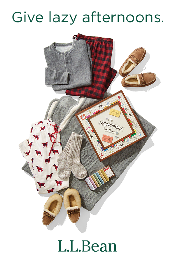 02ded51a29 Find gifts that help them kick back, like our cozy pajamas, toasty slippers  and wool socks.