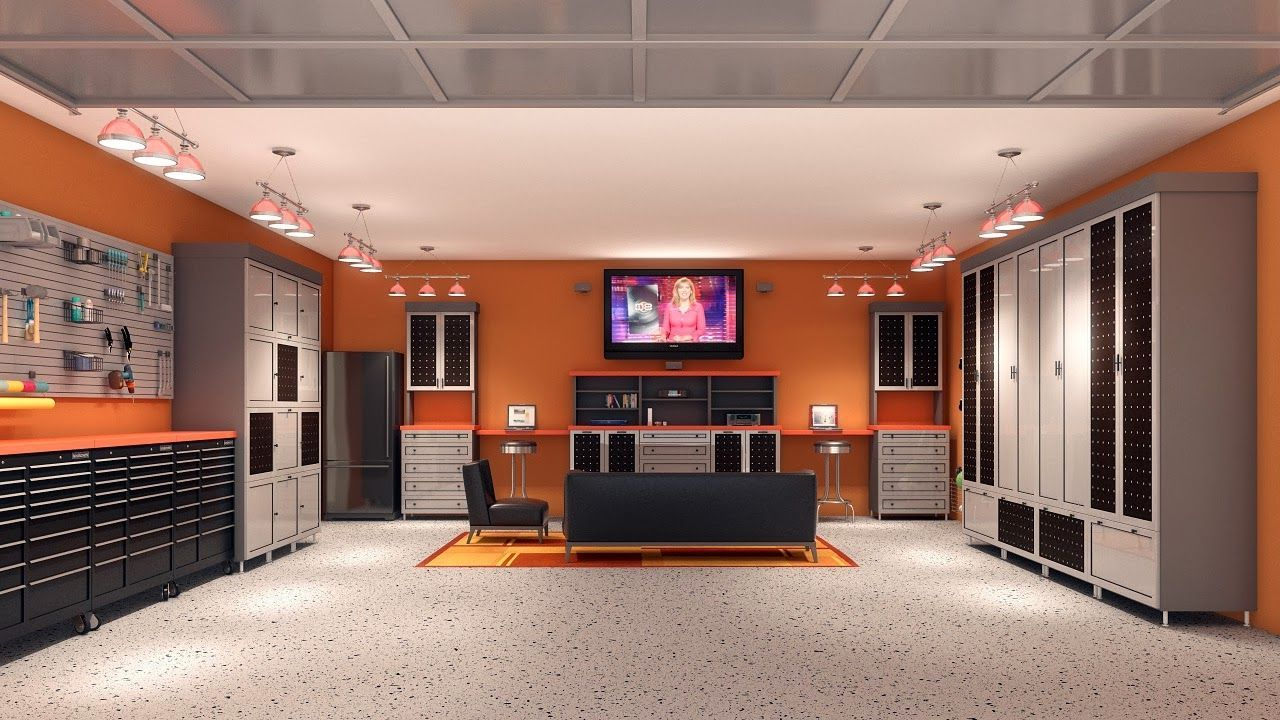 Man Cave 2 Car Garage : Interior unique garage design ideas sleek and neat