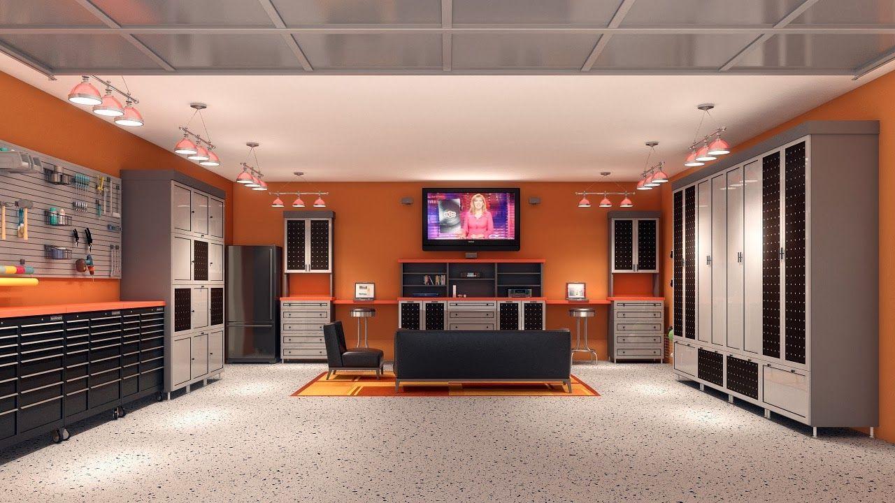 Interior Unique Garage Design Ideas Sleek And Neat Garage Man
