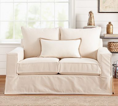 PB Comfort Square Slipcovered Knife-Edge Cushion Sofa #potterybarn : pottery barn pb comfort sectional - Sectionals, Sofas & Couches