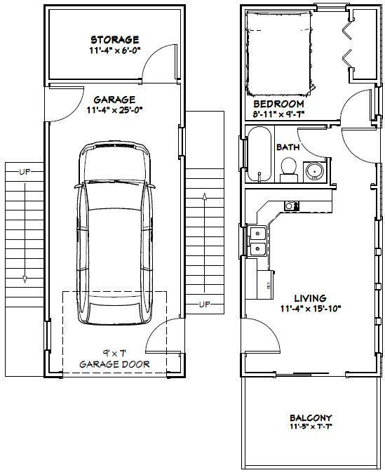 12x32 House Plans
