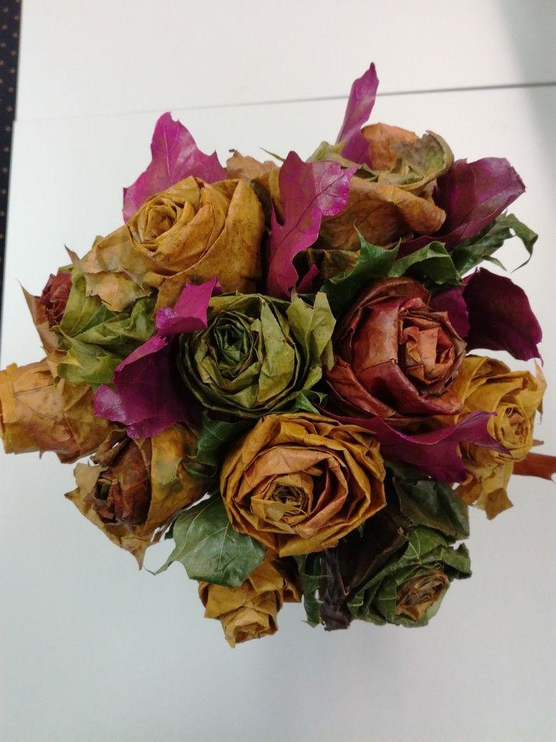 A G Bukiet Jesienny Z Lisci Floral Wreath Decor Floral