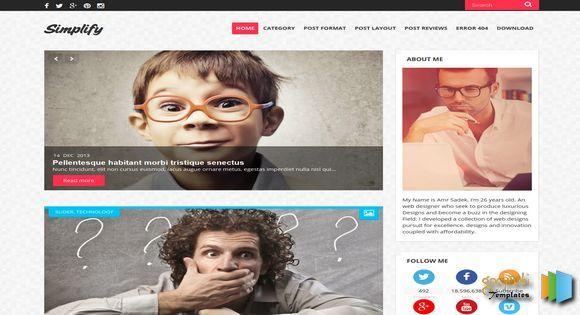Simplify Blogger Template blogger templates free blogger templates ...