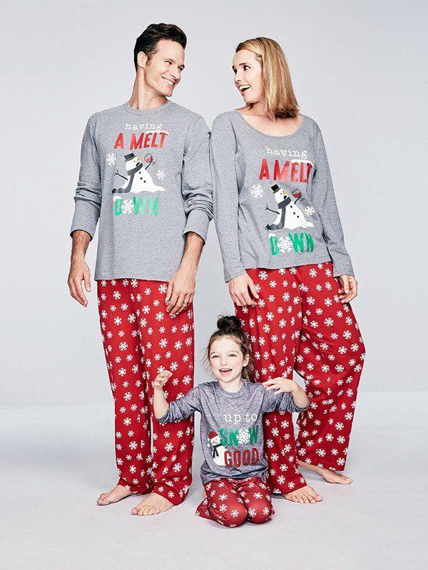 family pajamas snowflake meltdown pajama sets created for macys lingerie  shapewear women macys 6e973de10