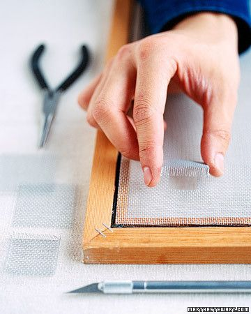 Patch your window screen