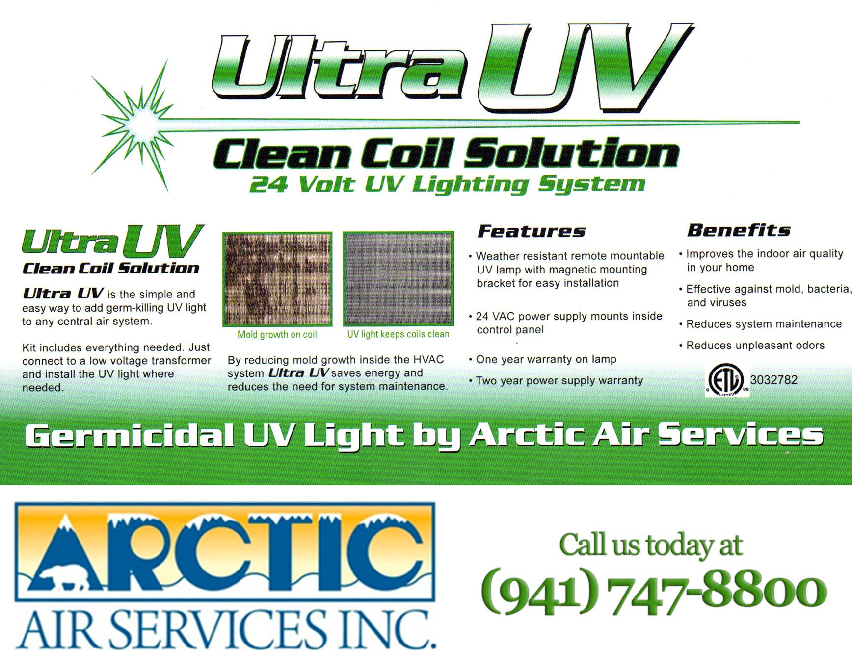 Ultra Uv Arctic Air Indoor Air Quality Lighting System