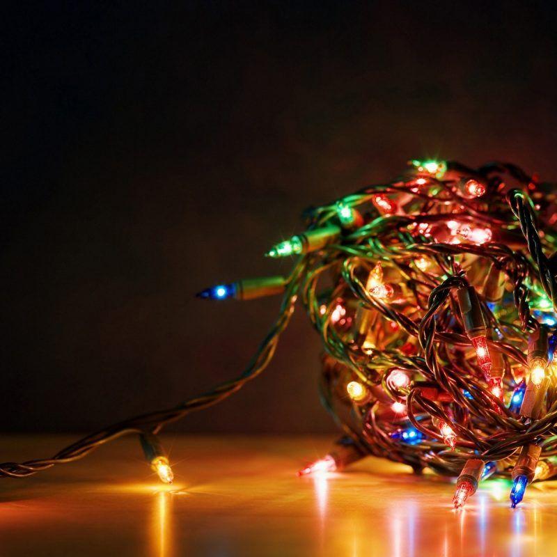 10 Top Christmas Lights Desktop Wallpaper Full Hd 1080p For Pc Desktop Girlyanda Novyj God Provod