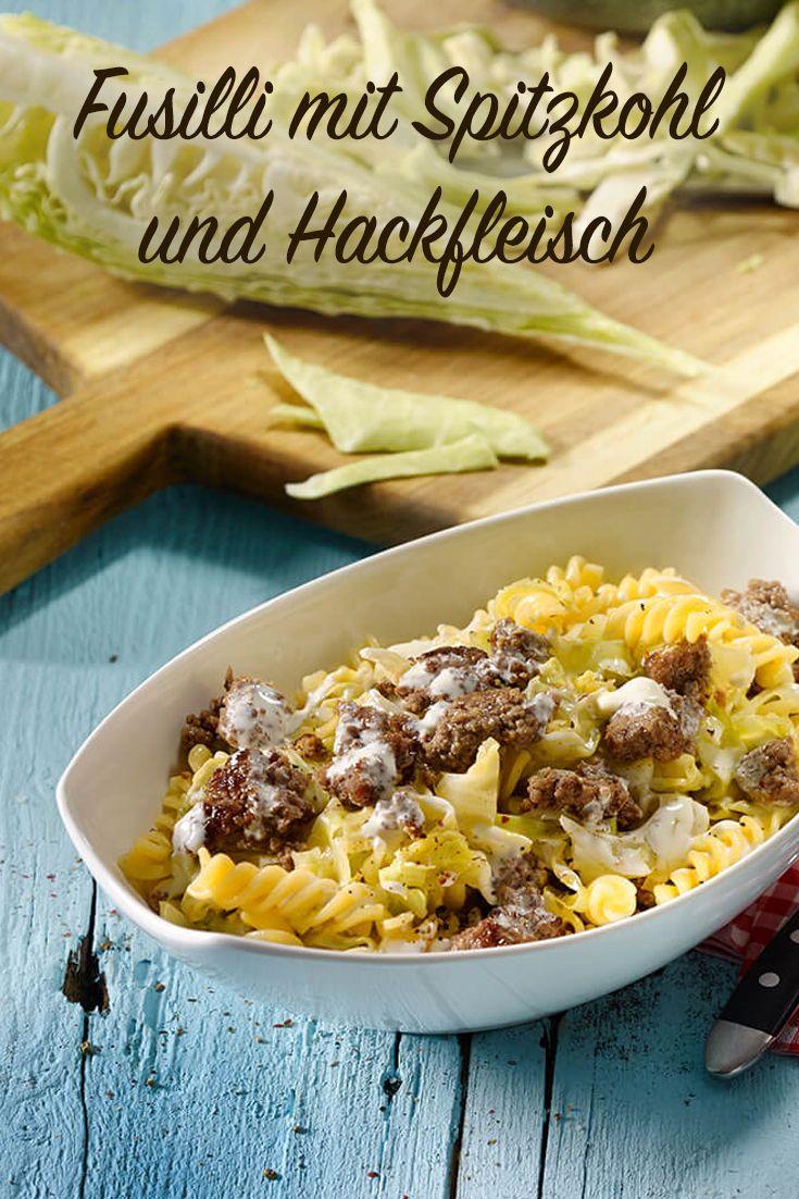 Fusilli mit Spitzkohl und Hackfleisch Rezept - leckere Rezepte bei |real.de