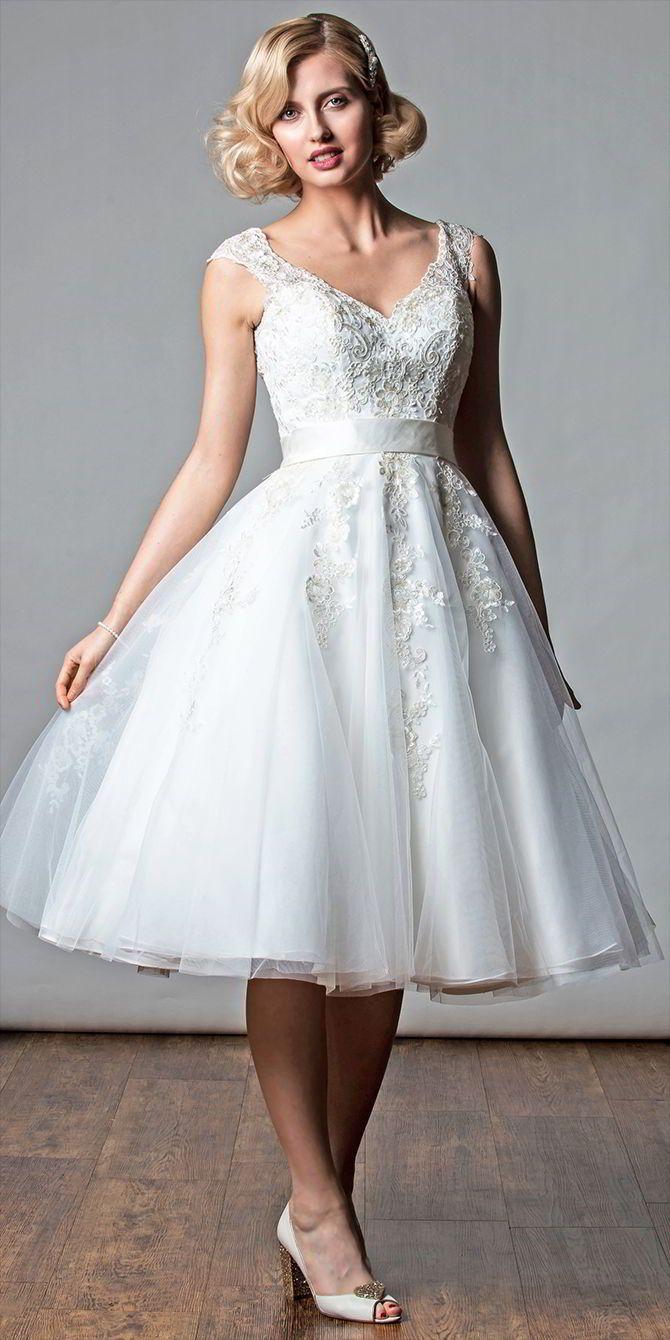 Rita Mae 2017 Short Wedding Dresses World Of Bridal Short Lace Wedding Dress Vintage Inspired Wedding Gown Famous Wedding Dresses [ 1340 x 670 Pixel ]