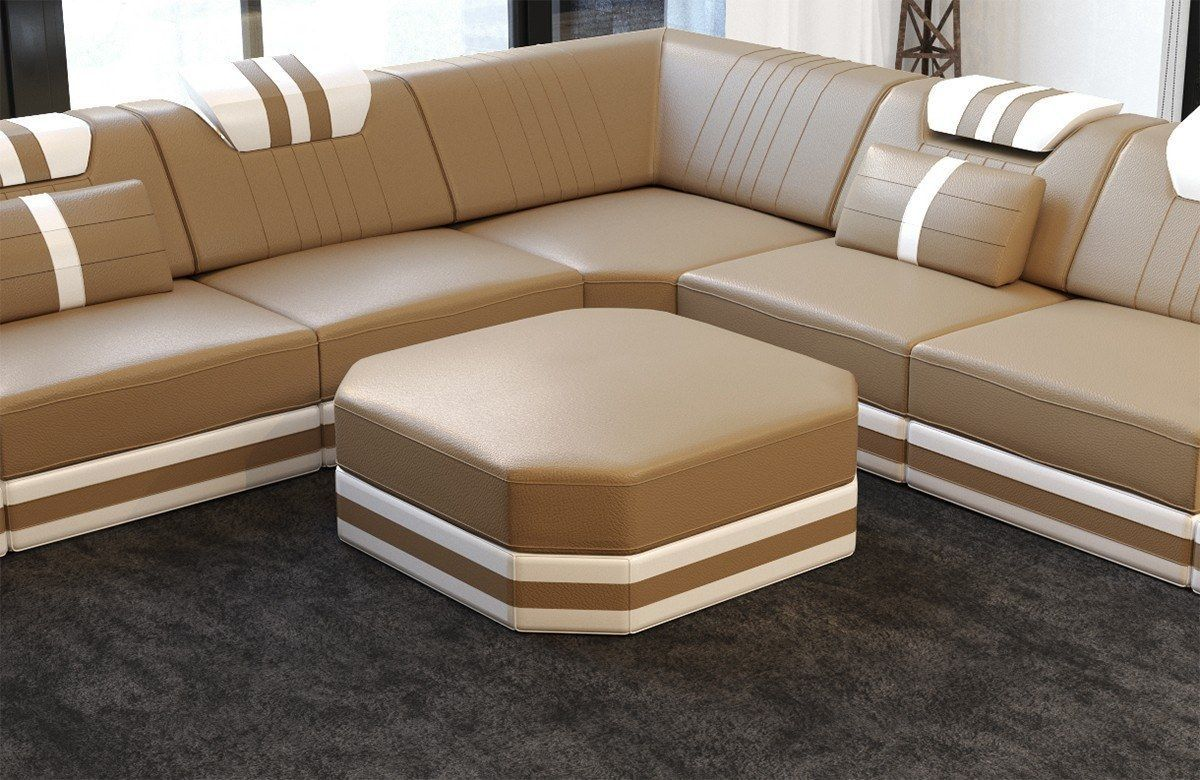Luxury Sectional Sofa San Antonio U Shape with LED and USB Port
