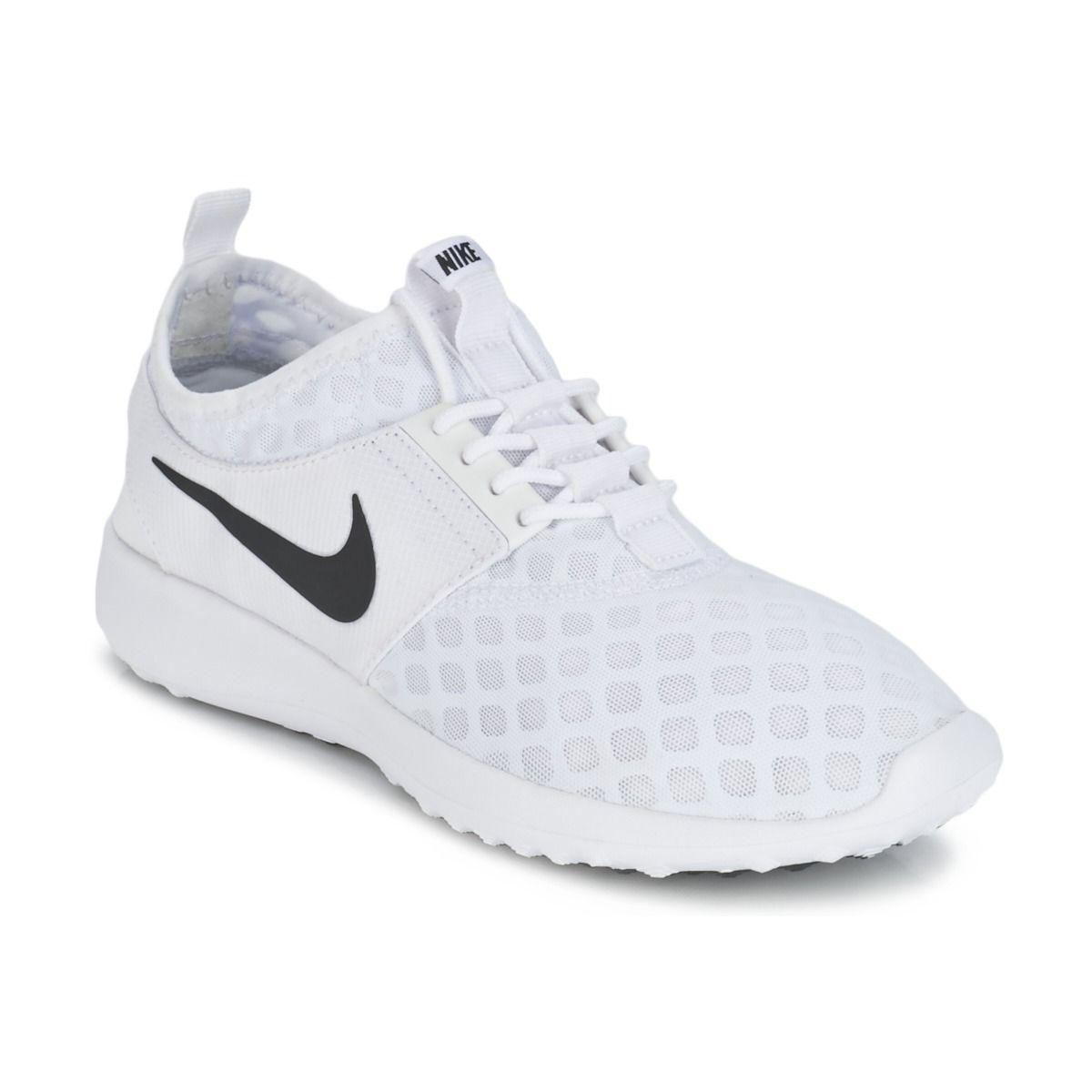 Nike JUVENATE W Blanc / Noir pas cher prix promo Baskets Femme Spartoo  94.99 €