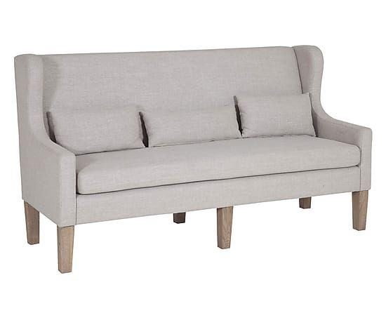Canapé VENTOS bois et polyester, gris et naturel - #martinsen