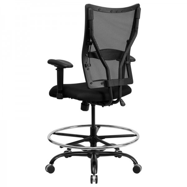 Husky Office  Ares Series Big   Tall Mesh Drafting Chair with Height  Adjustable ArmsHusky Office  Ares Series Big   Tall Mesh Drafting Chair with  . Office Star Height Adjustable Drafting Chair With Footring. Home Design Ideas